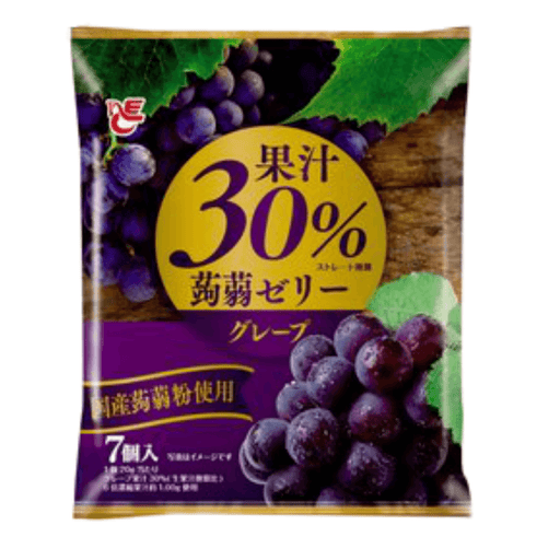 "Ace Bakery - Konnyaku Jelly Dessert ""Grape"" (Pouch Type) 140g Honeydaes - Japan Foods Grocery Online"