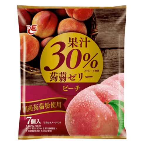 "Ace Bakery - Konnyaku Jelly Dessert ""Peach"" (Pouch Type) 140g Honeydaes - Japan Foods Grocery Online"