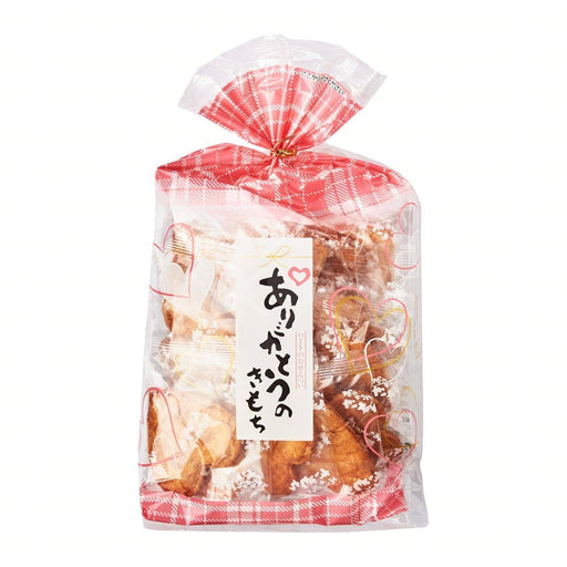「ありがとうのきもち」煎餅 ARIGATO KIMOCHI Japanese Heart Shape Rice Cracker Senbei 122g (15 pcs) Honeydaes - Japan Foods Grocery Online