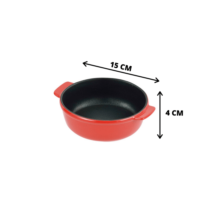 BAKING DAYS Oven Chef Round Dish Tray (15cm) (Metallic Base) <RED> Unit Honeydaes - Japan Foods Grocery Online