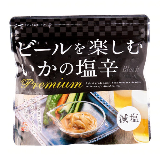 ビールを楽しむ イカの塩辛 Ika Shiokara Premium [Black] Less Salt Japanese Seasoned Frozen Squid 200g japanmart.sg