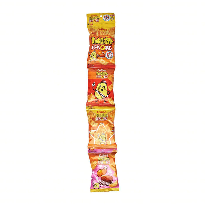 Calbee Japan Potato Bbq Aji Flavoured Snack (4 Mini Packs) Honeydaes - Japan Foods Grocery Online