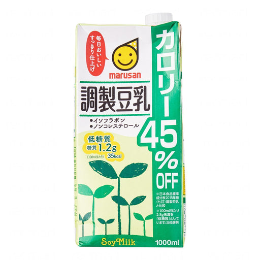 調製豆乳カロリー45%OFF Marusan Sweetened Soybean Milk With 45% Off Calorie 1000ml japanmart.sg