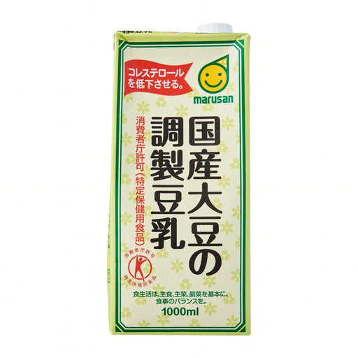 国産大豆の調整豆乳 Marusan Japan's Domestic Marudaizu Sweetened Soy Milk 1000ml japanmart.sg