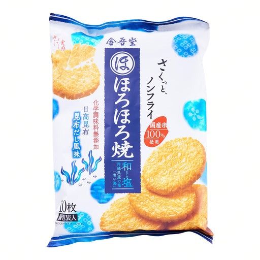 ほろほろ焼和塩せんべい Kingodo Horohoro Yaki Senbei Awajio (Sea Salt Cracker) -157g Honeydaes - Japan Foods Grocery Online