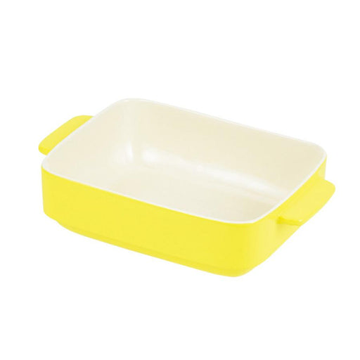 KING DAYS Oven Chef Deep Rectangular Dish Tray (24x19cm) <YELLOW> Unit Honeydaes - Japan Foods Grocery Online
