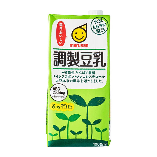 毎日おいしい調製豆乳 Marusan Everyday Delicious! Sweetened Japanese Soyabean Milk 1000ml japanmart.sg