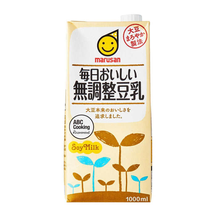 毎日おいしい無調整豆乳 Marusan Everyday Delicious! Pure Unsweetened Soyabean Milk 1000ml japanmart.sg