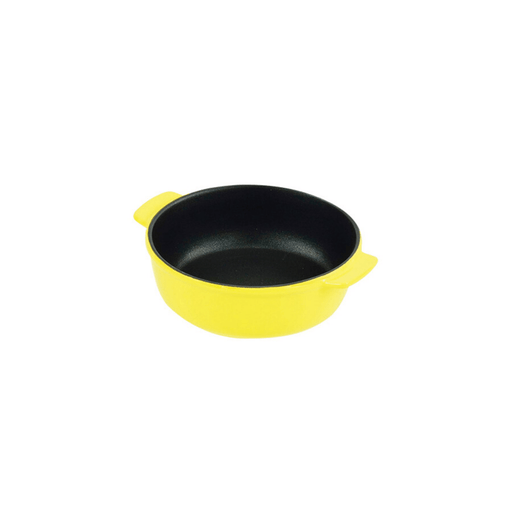 オーブンシェフ ふっ素加工耐熱丸深皿 イエロー Oven Chef Fluorine Processed Heat-Resistant Round Plate 15 cm Yellow <Happy Pot Series> Honeydaes - Japan Foods Grocery Online