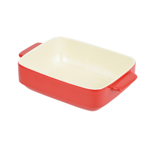 オーブンシェフ 耐熱角深皿 Oven Chef Heat-Resistant Corner Deep Plate 24 x 19 cm Red <Happy Pot Series> Honeydaes - Japan Foods Grocery Online