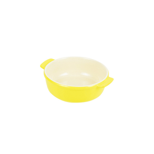 オーブンシェフ 耐熱丸深皿 イエロー Oven Chef Heat-Resistant Round Plate 15 cm Yellow <Happy Pot Series> Honeydaes - Japan Foods Grocery Online