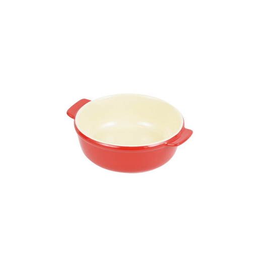 オーブンシェフ 耐熱丸深皿 Oven Chef Heat-Resistant Round Plate 15 cm Red <Happy Pot Series> Honeydaes - Japan Foods Grocery Online