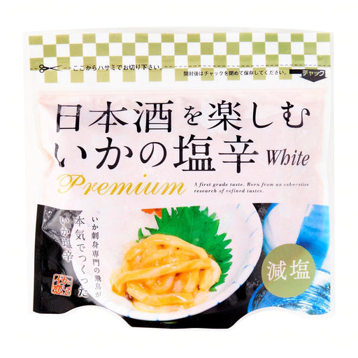 日本酒を楽しむ イカの塩辛 Ika Shiokara Premium [White] Less Salt Japanese Seasoned Frozen Squid 200g japanmart.sg