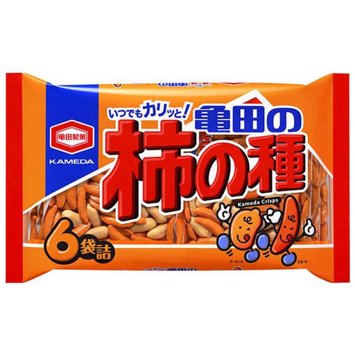 柿の種 Kaki No Tane Rice Crackers Snack (6packets) japanmart.sg