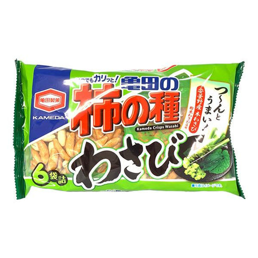 柿の種 わさび味 Kaki No Tane Wasabi Rice Crackers Snack (6packets) japanmart.sg