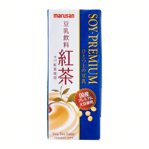 SOY-PREMIUM 豆乳飲料「紅茶」Marusan Premium Koucha Red Tea Soy Milk 200ml japanmart.sg