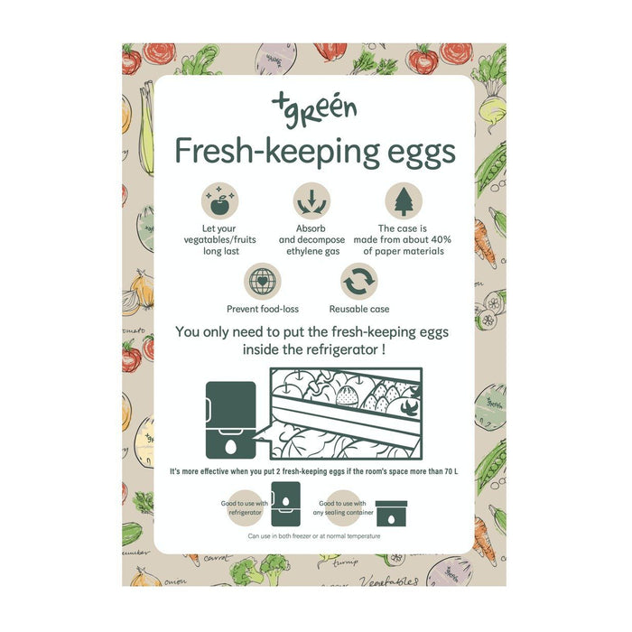 "鮮度保持エッグ1個入 ANDO GREEN - Sendo Hoji ""Freshness Keep!"" Fridge Egg Piece (Pack x 1 PC) - Green Honeydaes - Japan Foods Grocery Online"