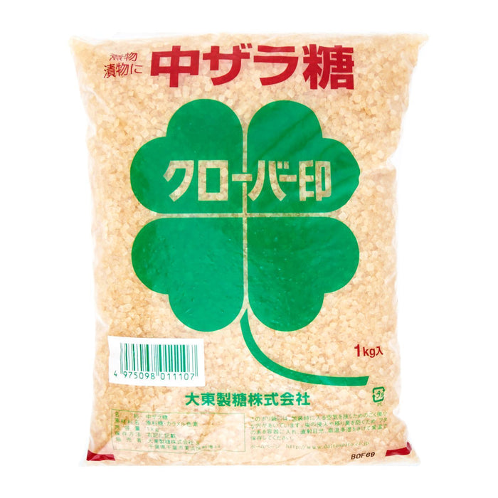 中ザラメ 糖 Daito Sato Zarame Japanese Brown Sugar 1kg Honeydaes - Japan Foods Grocery Online