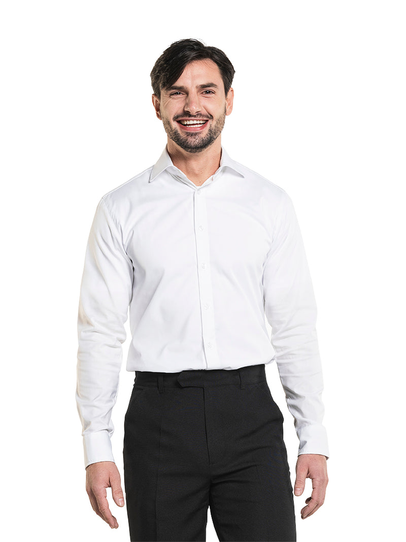 Horecakledij Chaud Devant Men White Stretch Hemd