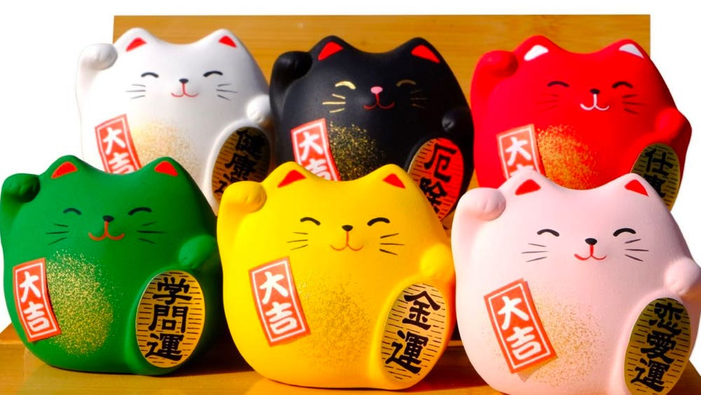 maneki neko colors