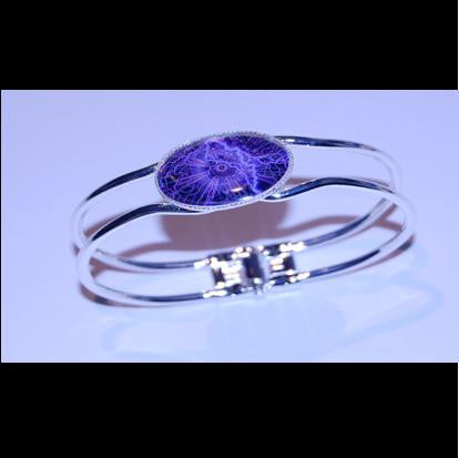 Silver plated bangle. - Lightening Strike