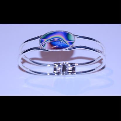 Silver plated bangle. - Northern Lights