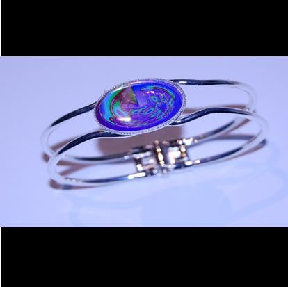 Silver plated bangle. - Orbital