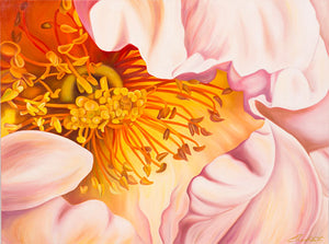 Into the Heart of God - Rose Flower Oil Painting