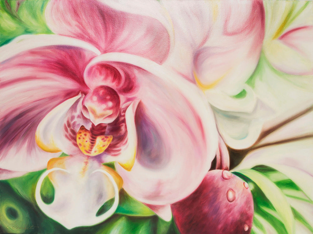 Into the Mystic - Orchid Original Oil Painting - Fine Art