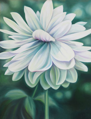 Peace - Dahlia Original Oil Painting - Fine Art