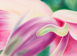 Rebirth - Blossom Flower Oil Painting