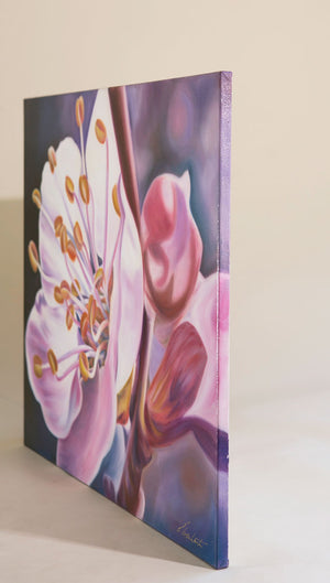 Santa Fe - Cherry Blossom Oil Painting