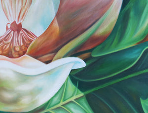 Spirit - Magnolia Original Oil Painting - Fine Art