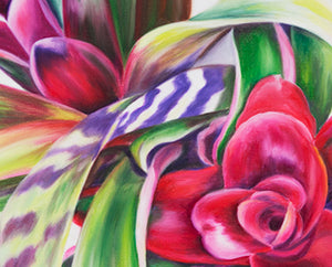 The Gift - Bromeliad Flower Oil Painting
