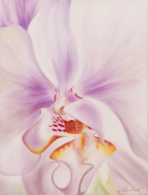Best Self - White Orchid Flower Oil Painting