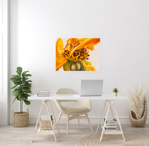 Golden Girl - Yellow Rose Flower Oil Painting