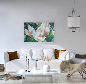 Spirit - Magnolia Flower Oil Painting