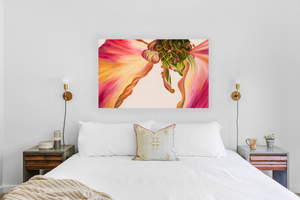 Winged One - Rose Flower Oil Painting