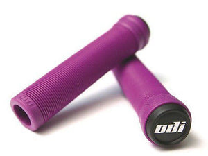 ODI Soft Flangeless Longneck Scooter Grips - Purple