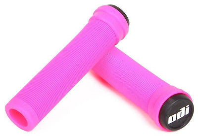 ODI Soft Flangeless Longneck Scooter Grips - Pink