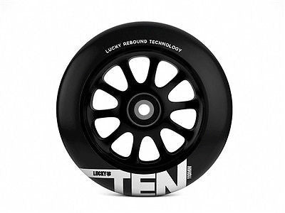 LUCKY TEN SCOOTER WHEEL - 110MM - BLACK/BLACK Pair