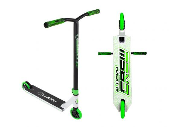 Lucky Crew Pro Scooter - White/Green