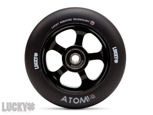 Lucky ATOM™ 110mm Scooter Wheels - ( PAIR ) Black