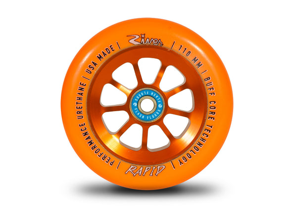 River Wheels-Rapids 110mm (Orange On Orange) Pair