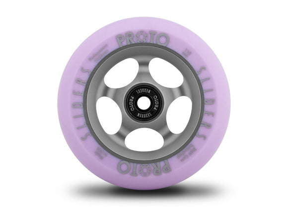 PROTO Faded Sliders Scooter Wheels - Purple on Grey bearings included Pair