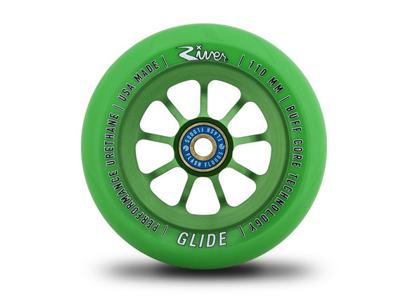River Glides Scooter Wheels - Emerald Glides bearings included Pair