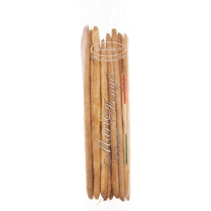Traditional hand-stretched bread sticks made exclusively from water, flour, salt, yeast, a little lard and extra virgin olive oil.