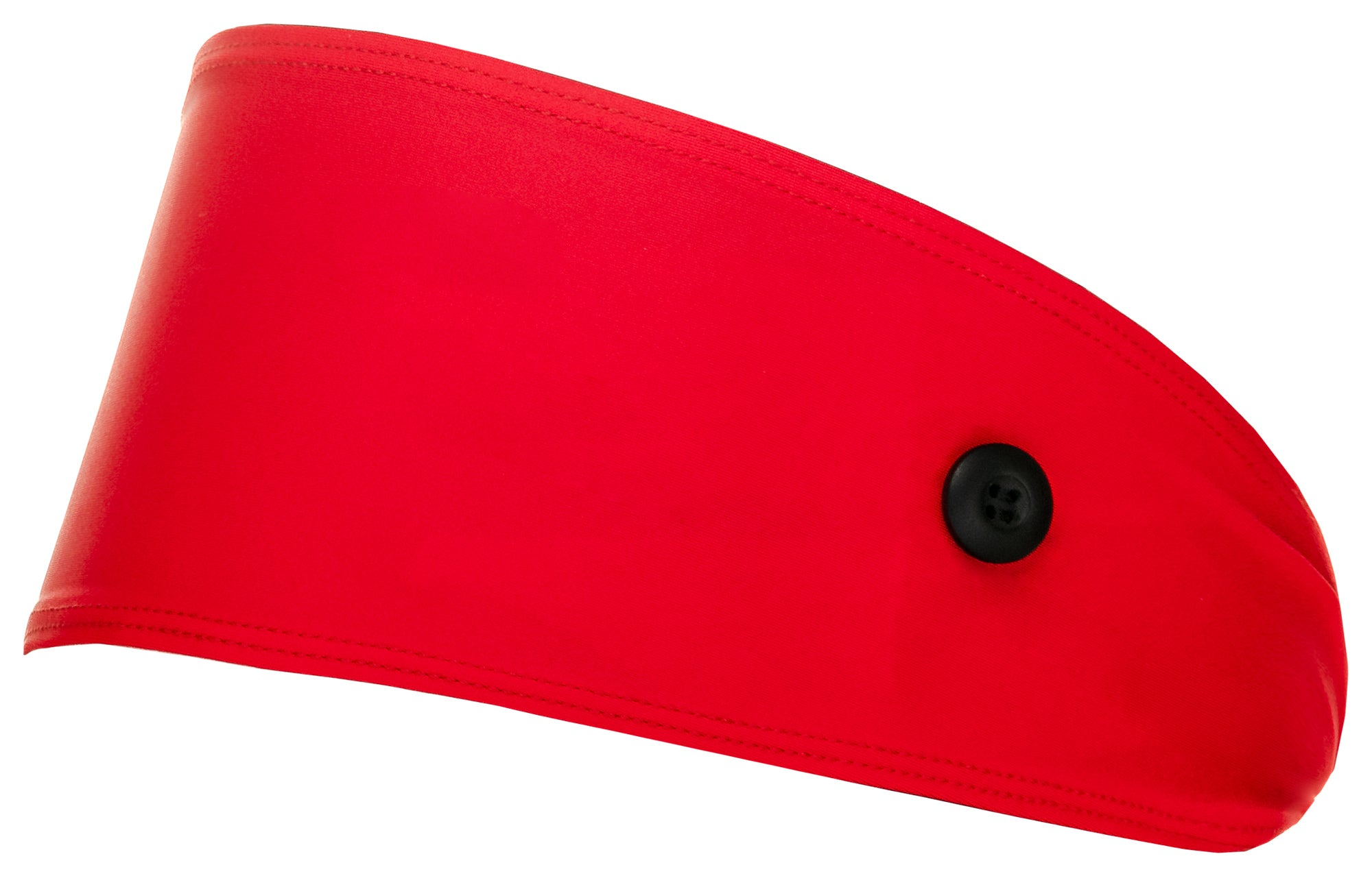Red Headbands With Buttons for Mask - Best selling, ear-saver, Red Button Headband. Non-slip and moisture-wicking.