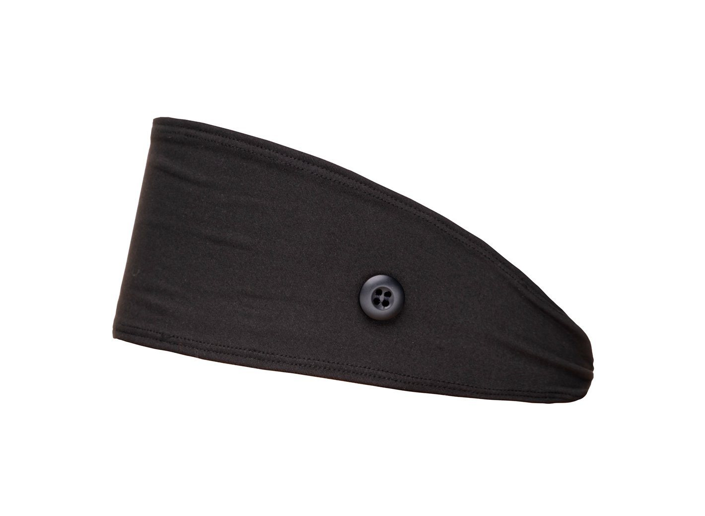 Black Button Headband