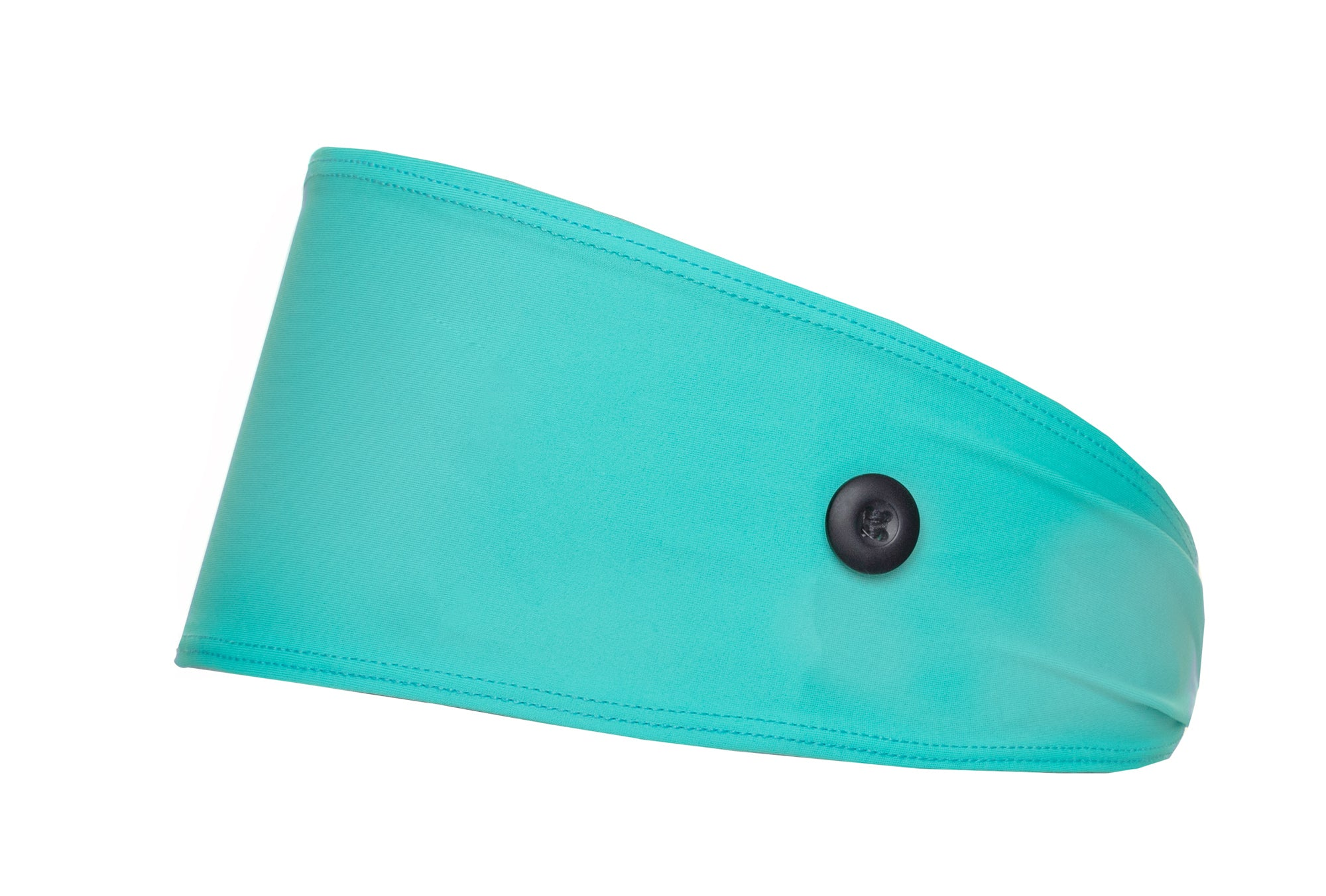 Turquoise Headband with Buttons for Masks - Ear Savers